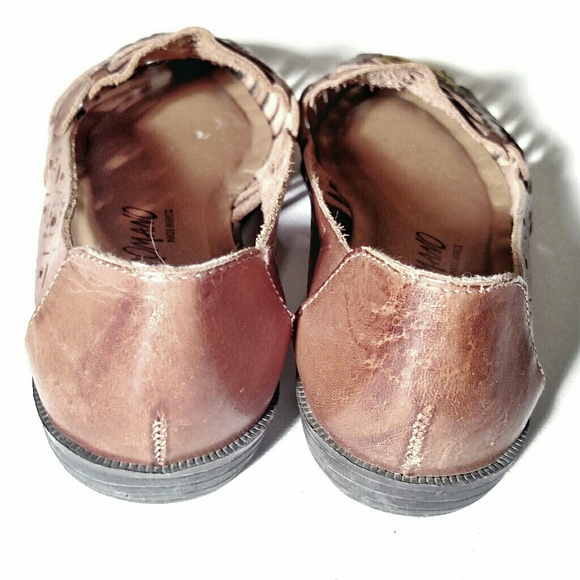 Size 5.5 W Brown Leather Slip Ons Flats Honors Wide Width Women/'s Vintage Shoes
